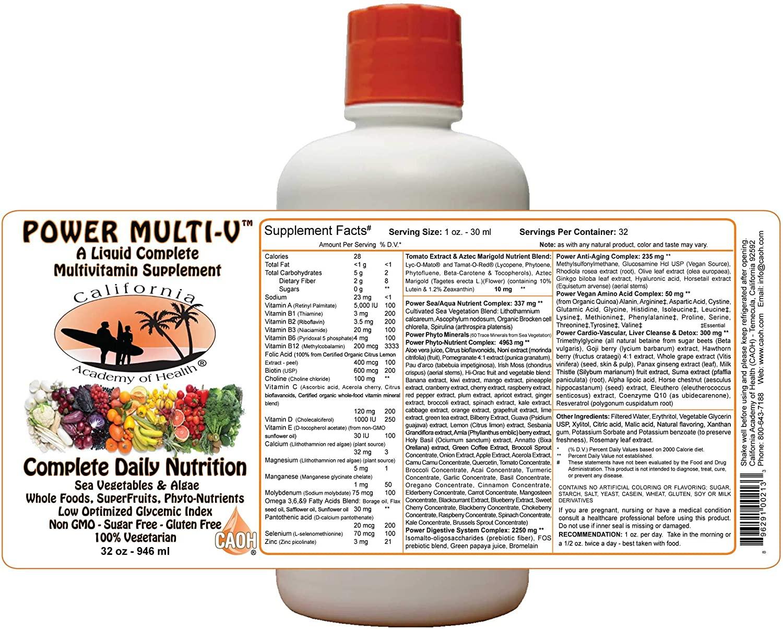Liquid Power MultiVitamin Nutrient Blend from CAOH® (3-32 oz Bottles)