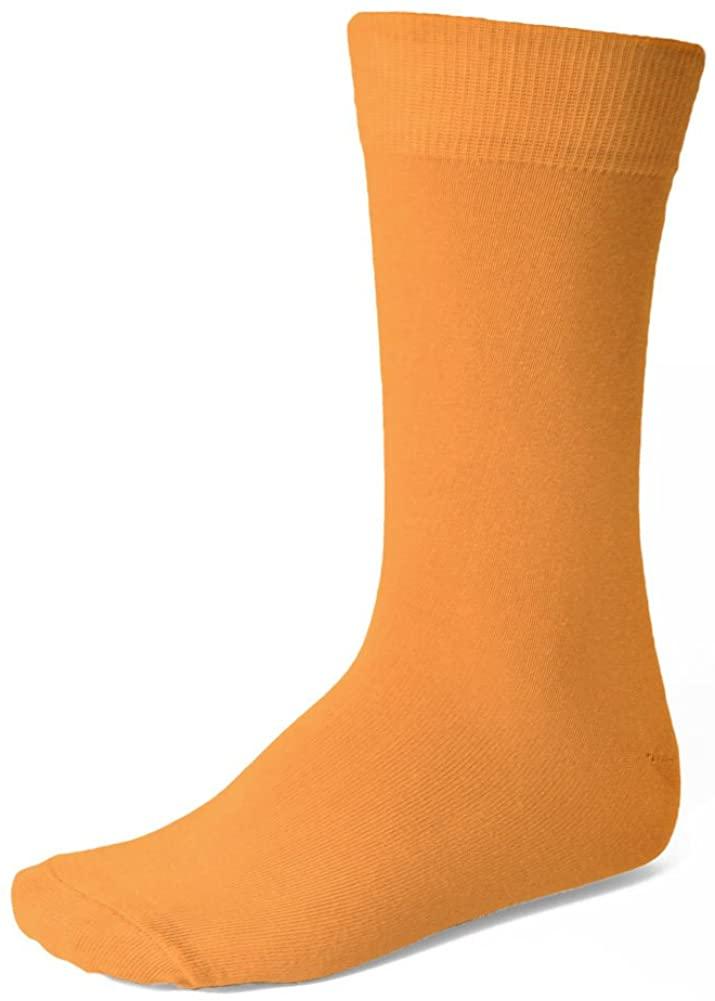 TieMart Men's Amber Orange Socks
