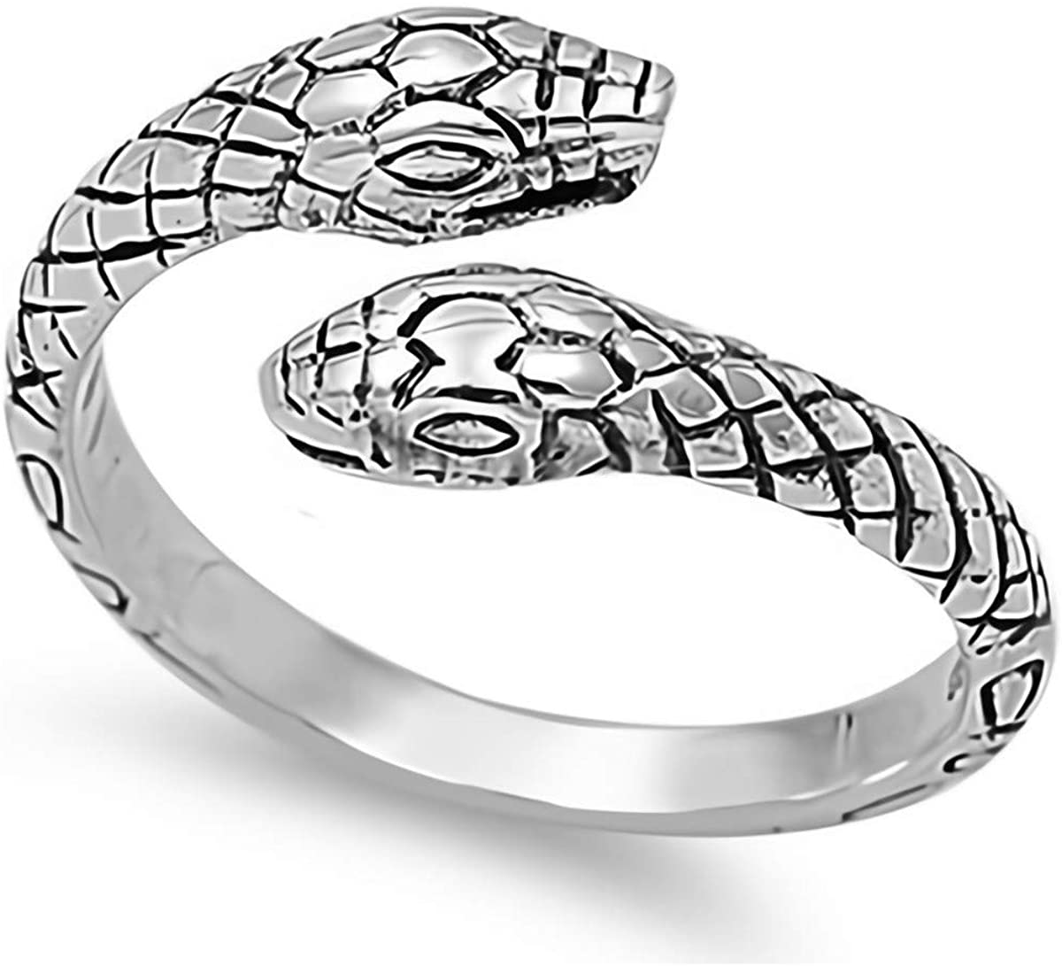 Glitzs Jewels 925 Sterling Silver Ring (Snake)   Cute Jewelry Gift for Women in Gift Box