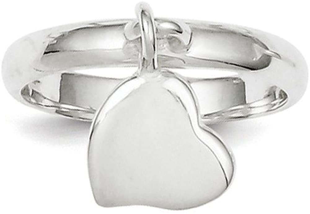 Bonyak Jewelry Sterling Silver Dangle Heart Ring - Size 7