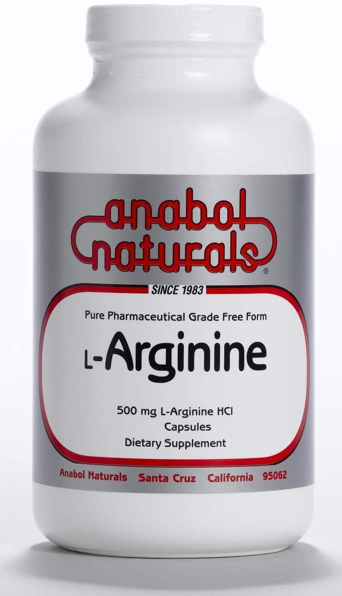 Anabol Naturals L-Arginine 500 mg, 2000 Capsules
