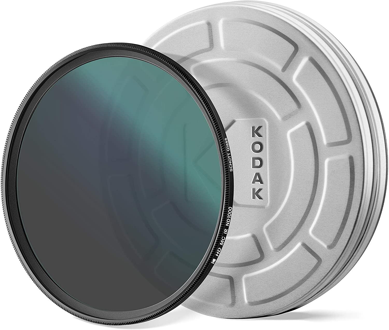 KODAK 82mm Schott Glass IR Neutral Density 1000 Filter | Super Slim Waterproof Polished Nano Multi-Coated 16 Layers | Prevents Overexposure Reduces Infrared | Retro Case & Filter Guide | PhotoGear +