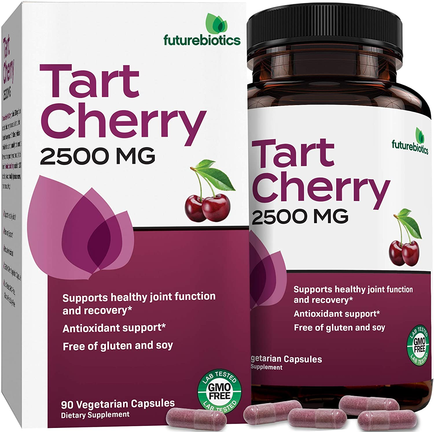 Futurebiotics Tart Cherry 2500 mg - Supports Joint Function & Recovery - Non GMO, 90 Vegetarian Capsules