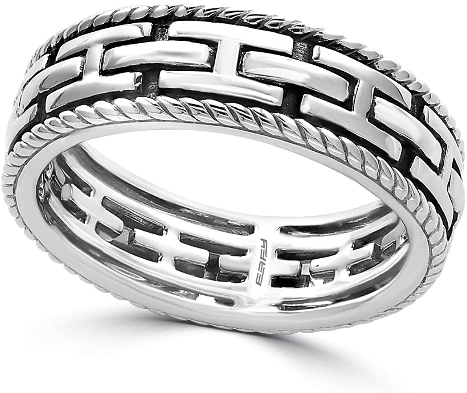 Effy 925 Sterling Silver Cable Ring IRS0J169S0