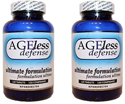 DrinkHRW Ageless Defense Ultimate Formulation, Inhibits Advanced Glycation End Products, 2 Bottles, 240 Total Tablets