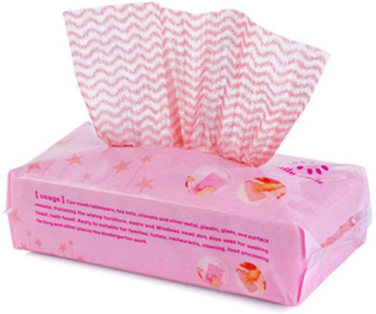 Tsmile 80pcs Disposable Utility Washing Dish Towel Non-Stick Towel Bag Kitchen Bathroom Lazy Rag Disposable Washcloth