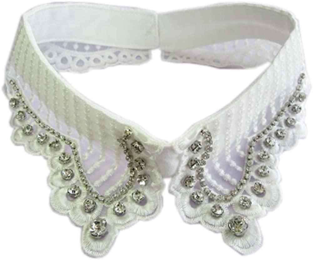 George Jimmy Fashion False Collar Detachable Shirt Sweater Collar for Women, 12 White