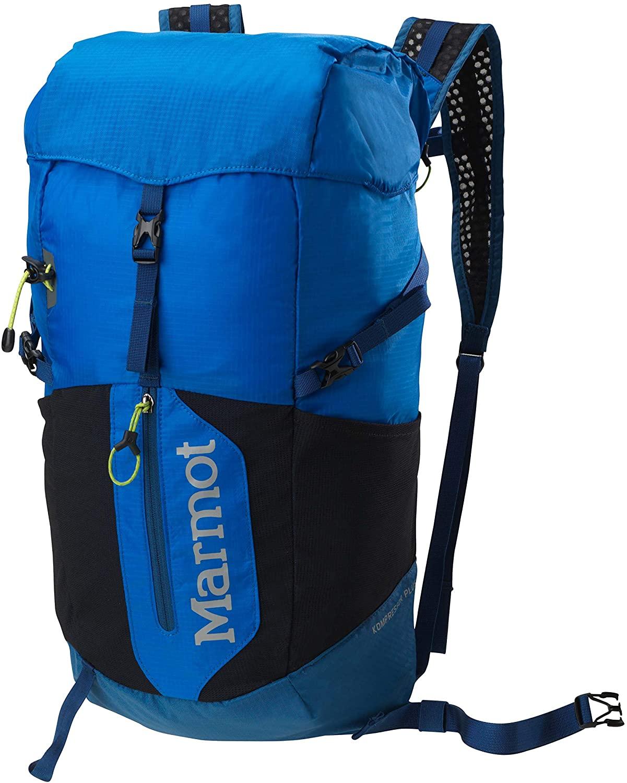 Marmot Kompressor Plus Lightweight Hiking Backpack, Peak Blue/Dark Sapphire