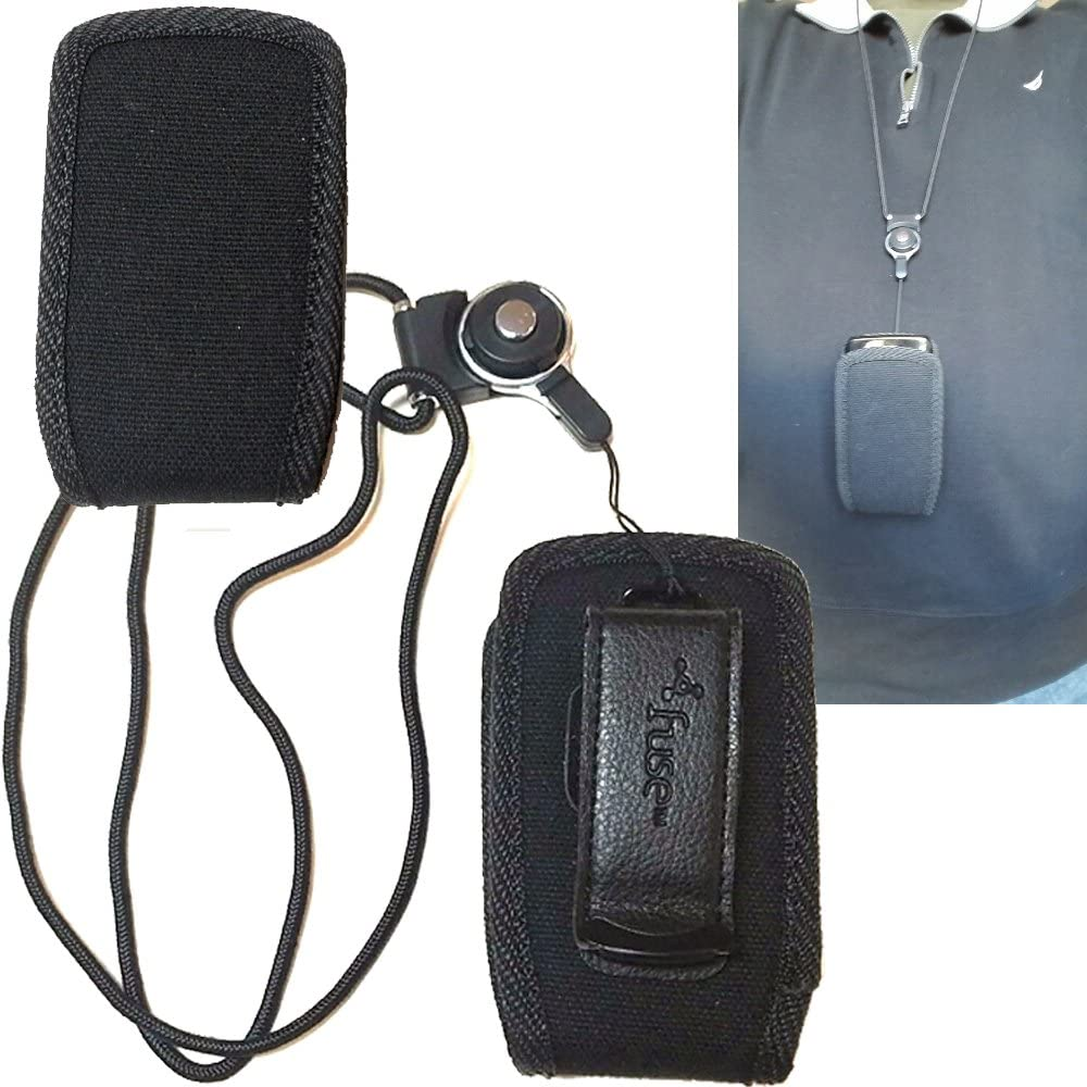 Around The Neck Hanging Lanyard Open Top Case for Samsung GreatCall Jitterbug 5 flip Phone.