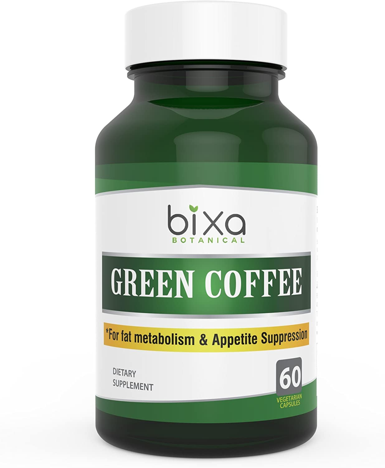 Green Coffee Bean Extract 50% Chlorogenic Acid 60 Veg Capsules (450mg) |Chlorogenic Acid | Supports Weight Loss & Metabolic Boost | for Immunity, Stamina, Energy & Sugar Control | Bixa Botanical