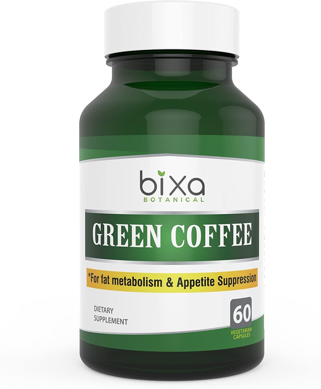 Green Coffee Bean Extract 50% Chlorogenic Acid 60 Veg Capsules (450mg) |Chlorogenic Acid | Supports Weight Loss & Metabolic Boost | for Immunity, Stamina, Energy & Sugar Control | Bixa Botanical