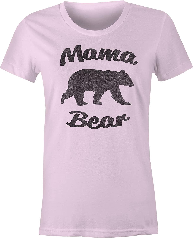 9 Crowns Tees Women's Mommy Shark Cute Graphic T-Shirt
