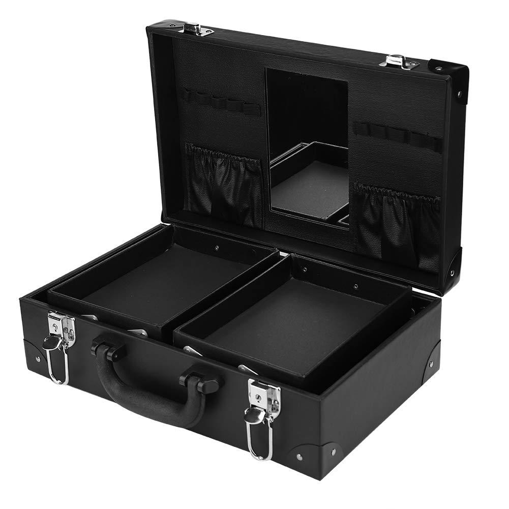 Tattoo Storage Case, Multi-Functional Tattoo Tool Kit Storage Case Nail Art Tool Cosmetics Organizer Box Professional Tattoo Case (Black)