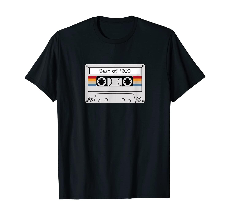 Retro 60 Years Vintage 1960 Cassette 60th Birthday T-Shirt