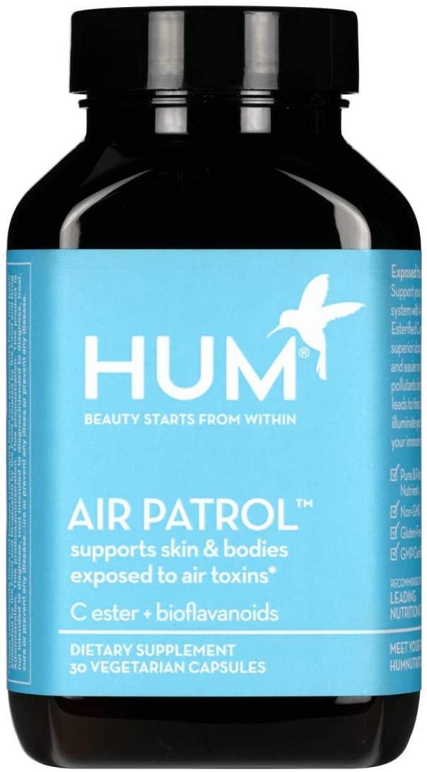 HUM Air Patrol - Vitamin C + Citrus Bioflavonoids Immune Support Supplement - Supports Skin + Bodies Exposed to Air Toxins (30 Vegan Capsules)