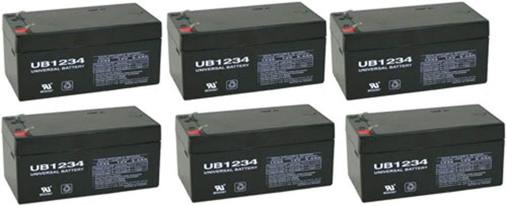 Universal Power Group Aquatec Fortuna Bath Lift Wheelchair 12V 3.4Ah Battery - 6 Pack