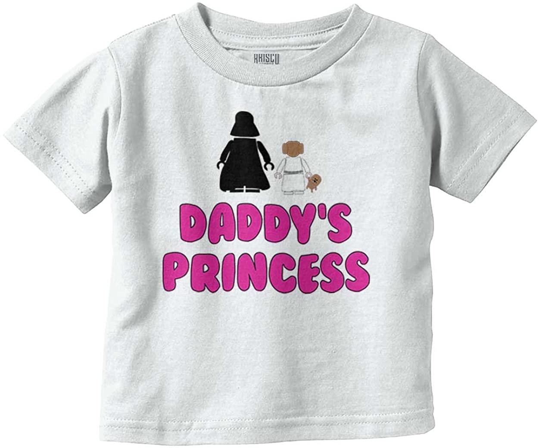Daddy's Princess Sci-Fi Girls Leia Vader Toddler T Shirt