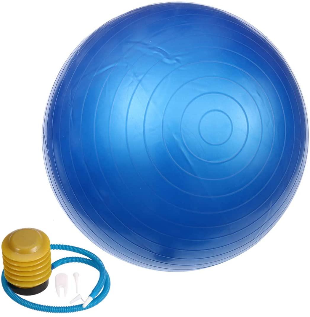 Wakauto 65cm 800g +,Gym Ball,Anti-Burst & Extra Thick, Swiss Ball with Quick Pump+Plug+Plug Remover Tool, Birthing Ball for Yoga, Pilates, Fitness, Pregnancy & Labour(Purple)