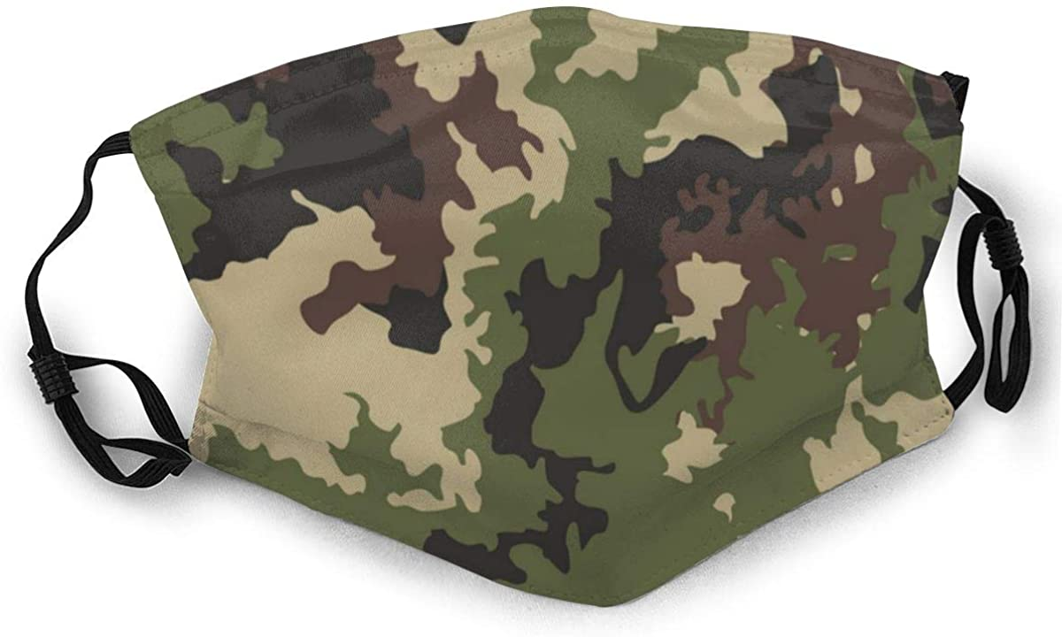 Woodland Hunting Camoflauge Camouflage Mask Face Mask Neckerchief Leopard Face Mask Reusable