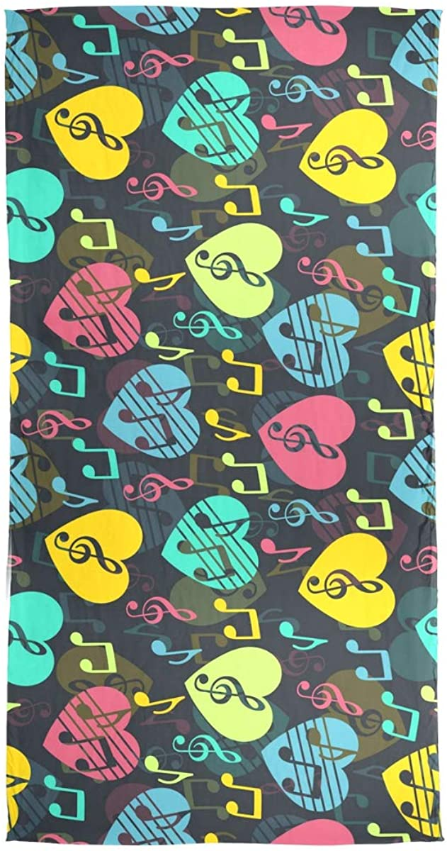 EELa Long Scarf Shawl Lightweight Soft Love for Music Musical Abstract Printed Wrap 70x35 inches