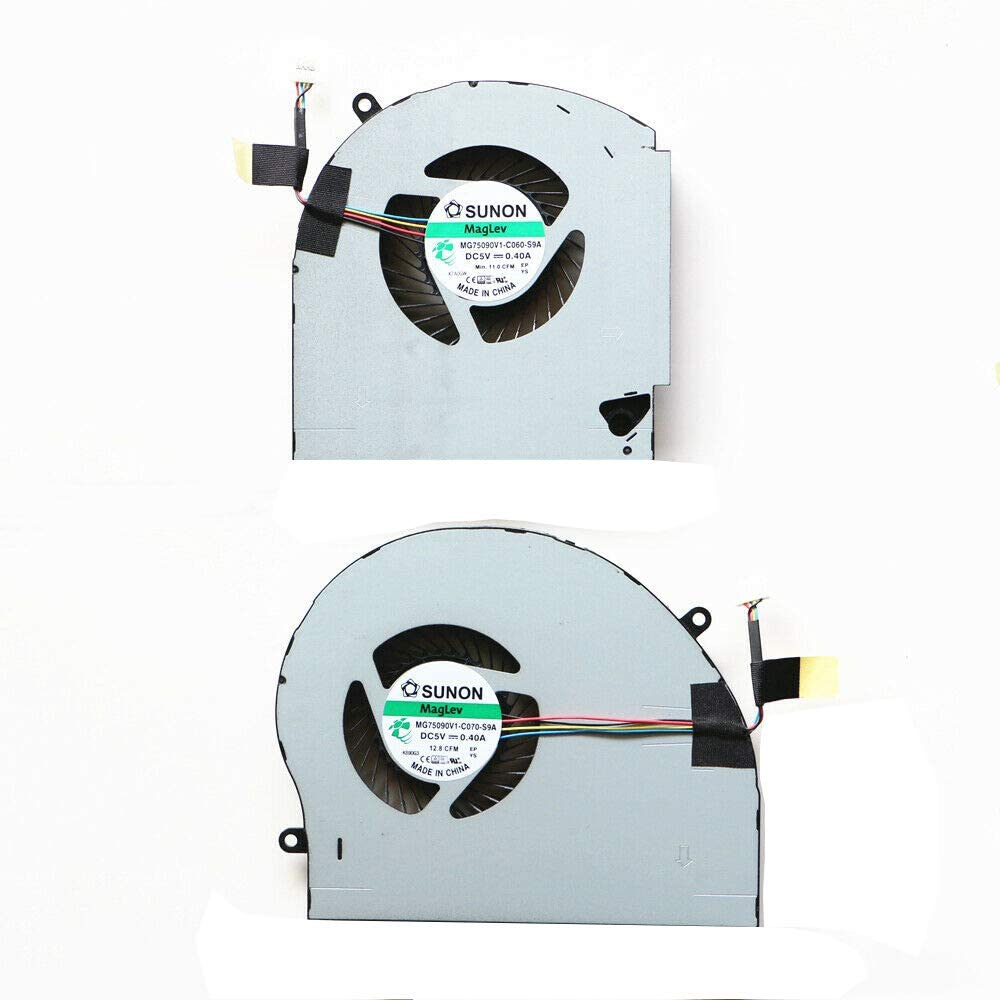 Replacement CPU & GPU Cooling Fan Compatible with Dell Alienware 17 R4 17 R5 Series Game Laptop P/N: 0RVTXY 036CV9