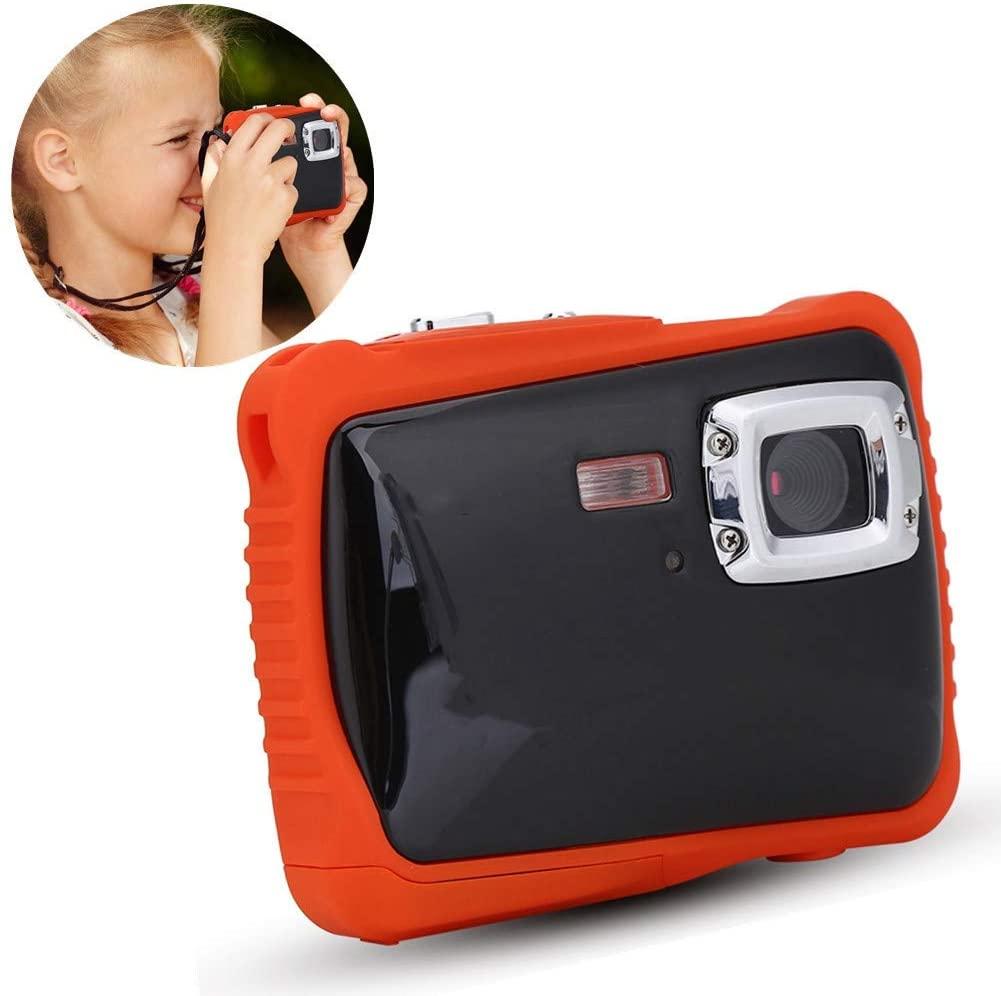 AYNEFY Swimming Camera, Kids Waterproof High Definition Underwater Swimming Digital Camera Camcorder