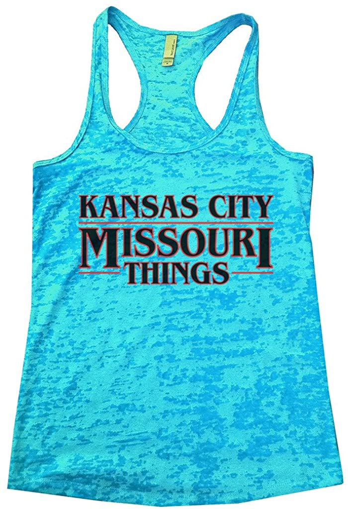 "Funny Threadz Womens Burnout Tank Top Stranger Things Inspired ""Kansas City Things"