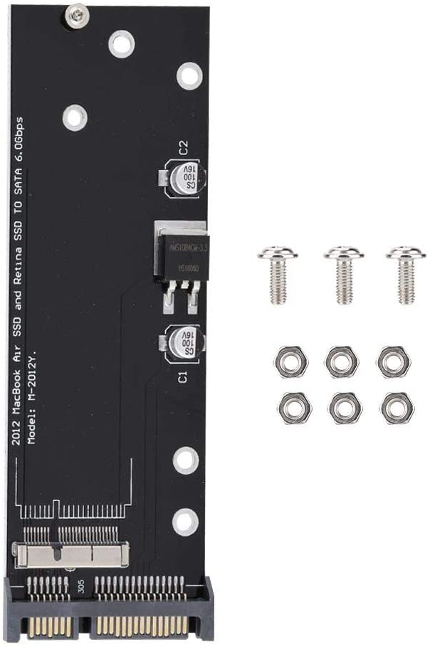 Riser Card, 2.5inch SATA 6Gb 3.0 SSD Slot Adapter Riser Card for Air Pro.