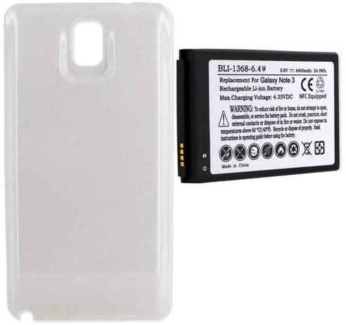 Empire Cell Phone Battery, Works with Samsung SM-N900A Cell Phone, (Li-Ion, 3.8V, 6400 mAh) Ultra Hi-Capacity, Compatible with Samsung Galaxy S NOTE III Battery