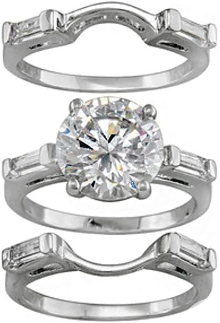 Ginger Lyne Collection Alisha 3pc Engagement Wedding Band Ring Set