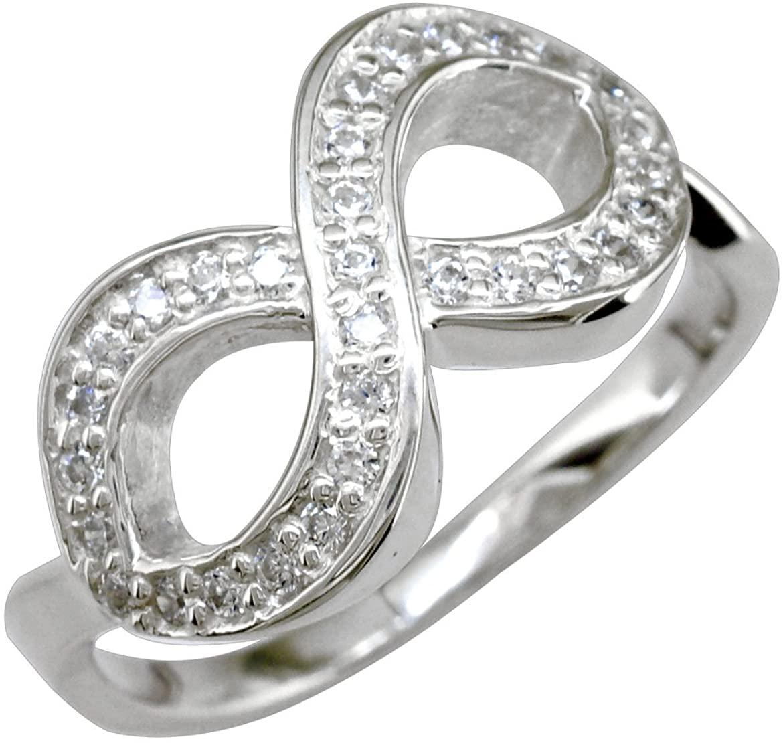 SZIRO Diamond Infinity Ring in 14K White Gold