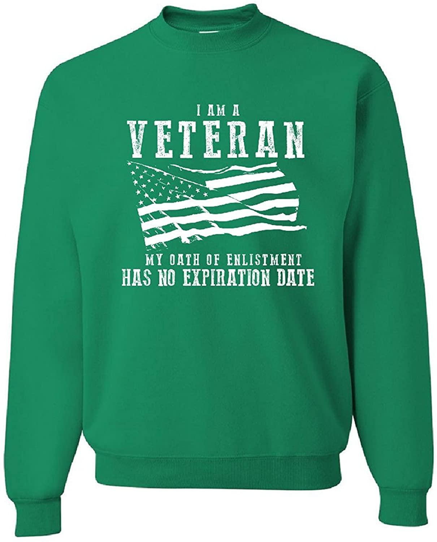 Veteran My Oath Has No Expiration Men's Veteran Sweatshirt Crew Neck
