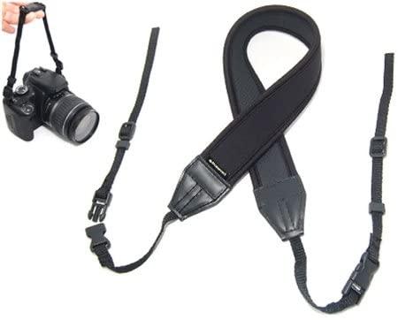 Polaroid Neoprene Adjustable Cushioned Neck Strap For The Nikon 1 J1, J2, J3, V1, V2, V3, S1, D40, D40x, D50, D60, D70, D80, D90, D100, D200, D300, D3, D3S, D700, D3000, D5000, D3100, D3200, D3300, D7000, D5100, D4, D4s, D800, D800E, D600, D610, D7100, D5200, D5300 Digital SLR Cameras