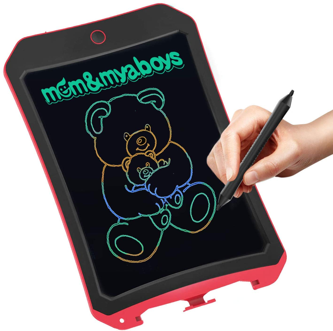 mom&myboys Upgraded Colorful Screen 8.5 Inch LCD Smart Drawing Tablet for Kids Age 3+, Electronic Magnetic Writing Doodlle Board-Toys for 4-8 Year Old Boys Girls Gifts 3 5 6 Years Old(Red)