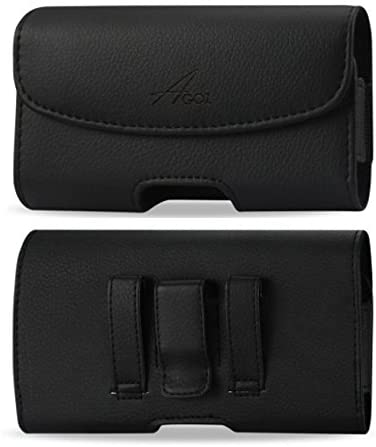 AGOZ Premium Leather Belt Clip Case for Samsung Galaxy A10e, Galaxy J3 Sky 4G LTE SM-S320, Galaxy J3 Luna Pro S327VL, Pouch Holster with Belt Clip & Belt Loops