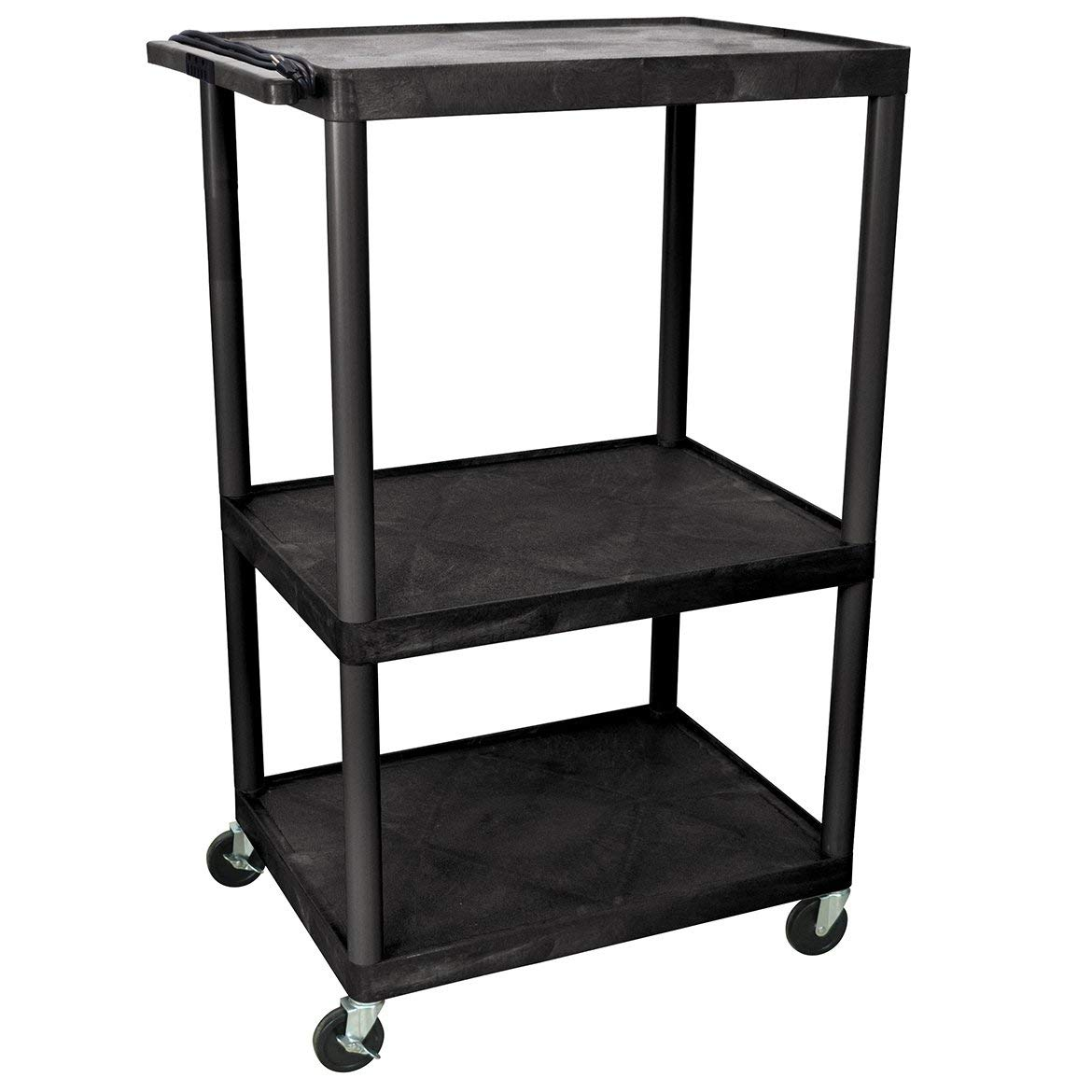 LUXOR LP54E-B Cart with Electric, Black