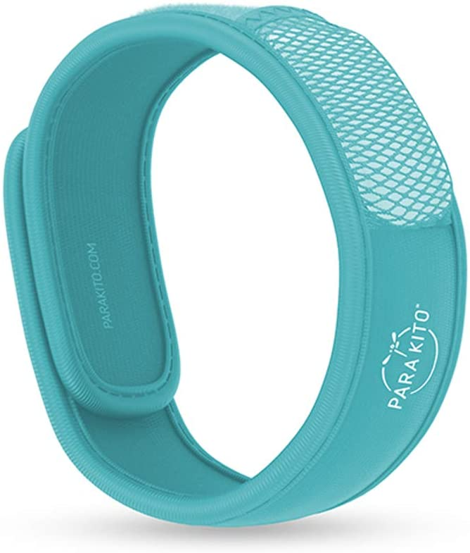 PARA'KITO Mosquito Insect & Bug Repellent Wristband - Waterproof, Outdoor Pest Repeller Bracelet w/Natural Essential Oils (Turquoise)