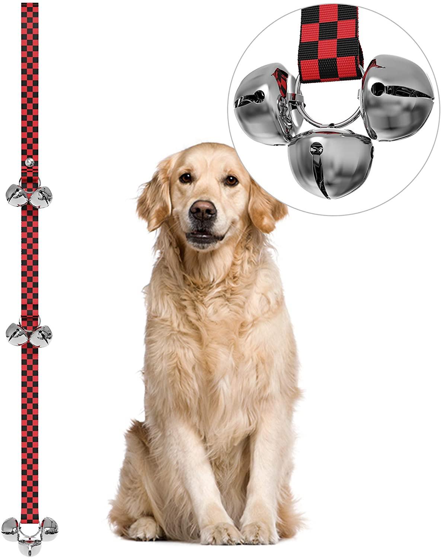 HONGDE Dog Doorbells for Potty Training Great Dog Bells Adjustable Door Bell Dog Bells Training Potty Your Puppy The Easy Way - Premium Quality - 7 Extra Large Loud 1.4 DoorBells