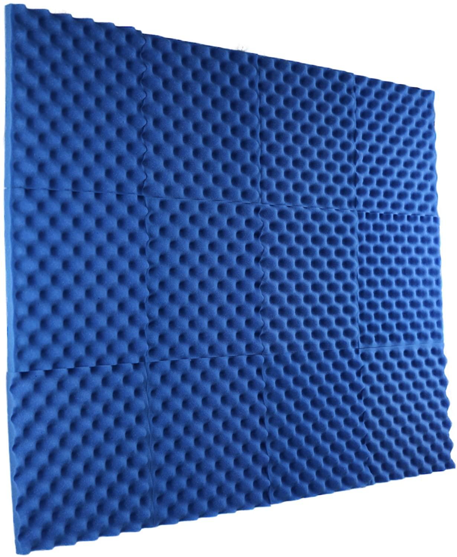 New Level 12 Pack - All Ice Blue Acoustic Panels Studio Foam Egg Crate 1