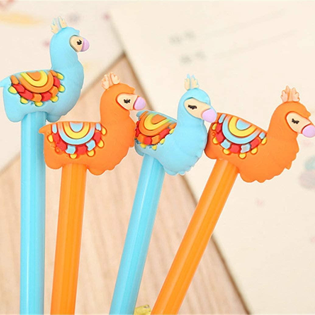 WIN-MARKET Animal Sheep Camel Gel Pens Set Fashion Cute Colorful Kawaii Lovely Gel Ball Pens Llama Gel Ink Rollerball Pens Office School Stationery pen(7PCS)