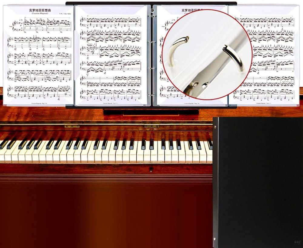 Wangyiqian Music Folder 4-Sided Unfolding Document Organizer File Paper Storage Folder Sheet Music Holder File Portfolio Organizer for Choirs Student Teacher Musician