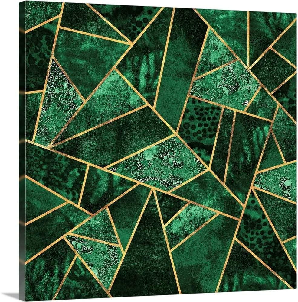 Deep Emerald Canvas Wall Art Print, 20