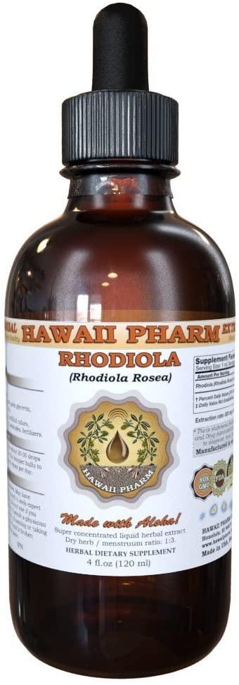 Rhodiola Liquid Extract, Organic Rhodiola (Rhodiola Rosea) Tincture 4 oz