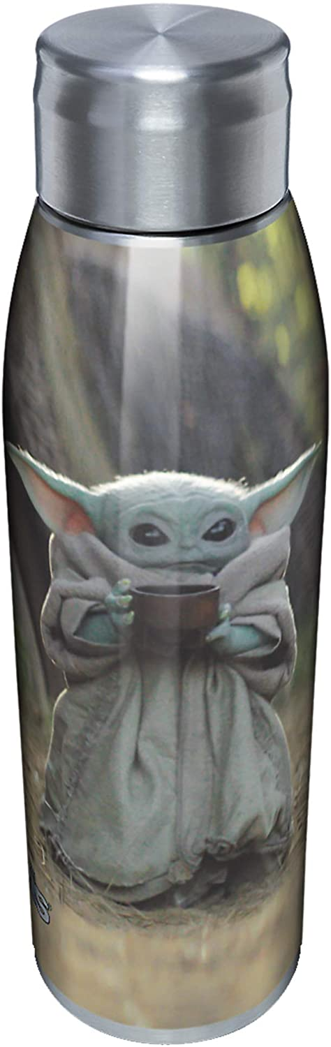 Tervis The Child Sipping Insulated Tumbler-Mandalorian, 17oz Water Bottle, Stainless Steel