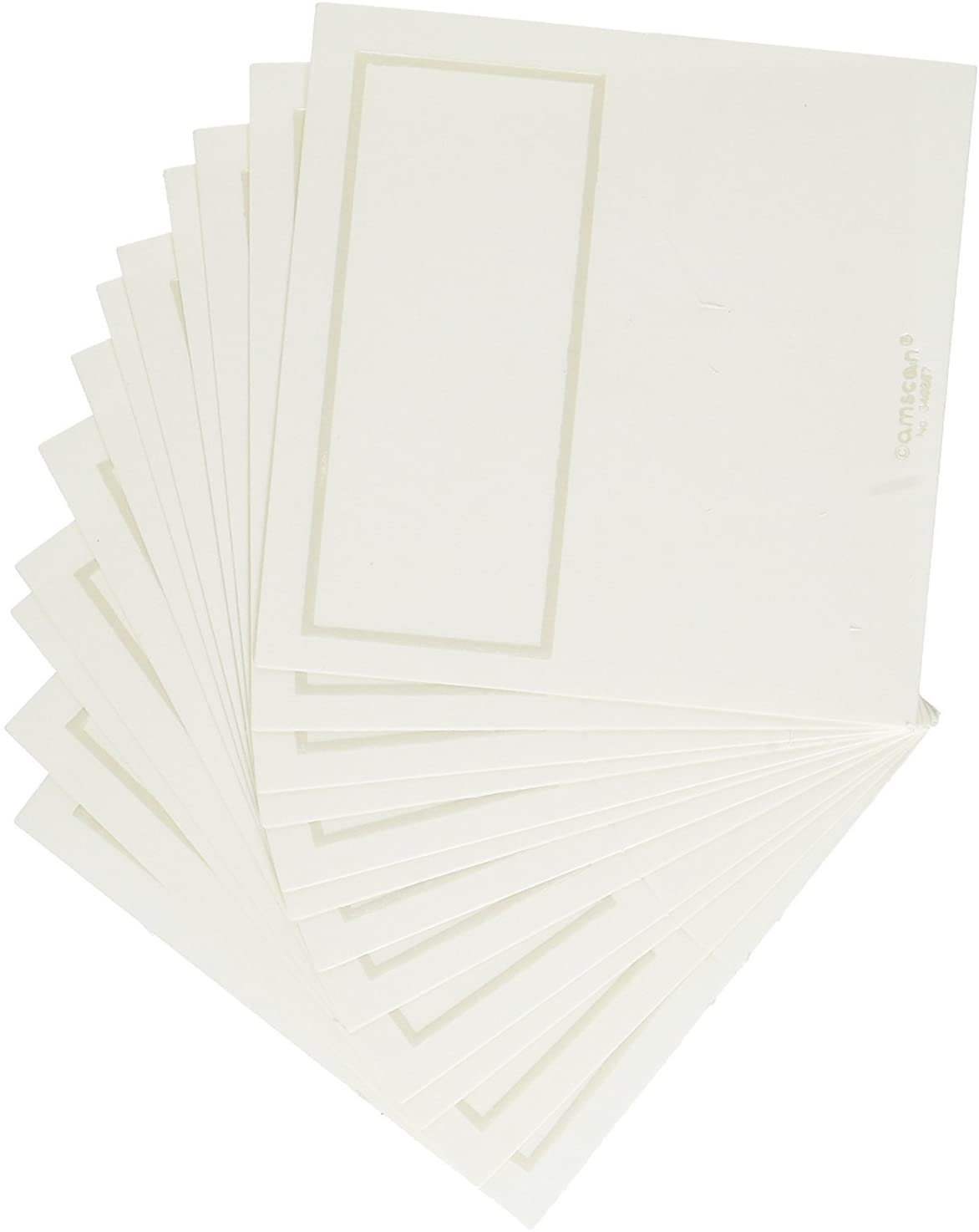 Amscan Traditional Wedding Pearlized Place Cards Party Supply, Ivory, Paper, 4