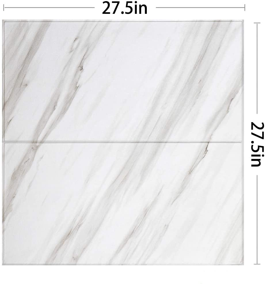 Modern 3D self-Adhesive Tile Wall Panels Wallpaper, Sound Insulation, Waterproof and Anti-Collision Walls, Suitable for Interior and Background Walls (10-Pack(Cover 53sq.ft), Jazz White)