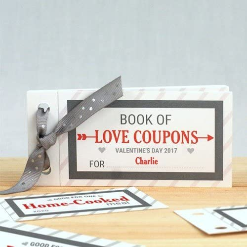 Personalized Love Coupon Book for Him, Personalized Valentine's Day Stationery, Cute Valentine Idea, Couples Gift, Custom, Valentine's Day Card, Romantic, Cute