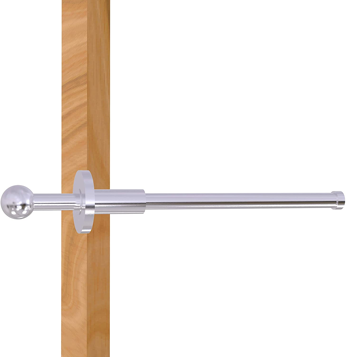 Allied Brass Traditional Retractable Pullout Garment Rod, 10-Inch, Satin Chrome