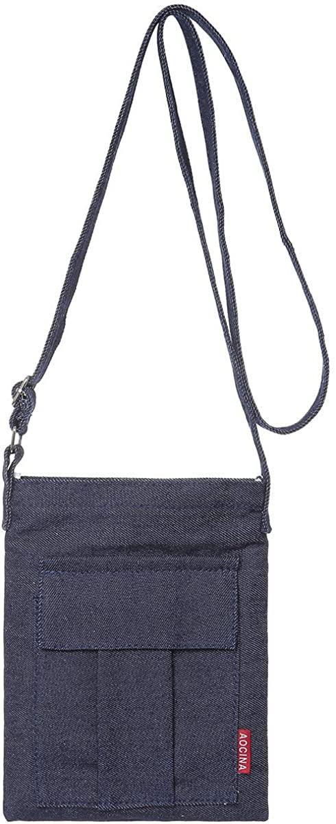 AOCINA Small Crossbody Purse Bags Canvas Mini Shoulder Handbag For Women