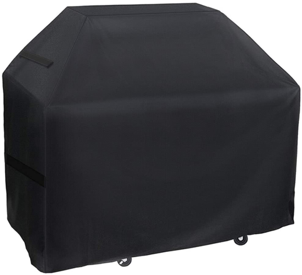 IWNTWY Grill Cover, 75-inch 300D Oxford Heavy Duty Waterproof BBQ Gas Cover with Handles and Adjustable Velcro Straps, Outdoor Dust-Proof UV Resistant Rip-Proof Barbecue Cover Fit Most Brands of Grill